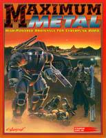 Couverture de l'édition originale américaine de l'extension Maximum Metal pour le jeu de rôle Cyberpunk 2020