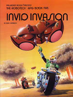 Couverture de la première édition du cinquième volume de l'adaptation en jeu de rôle de la série TV Robotech