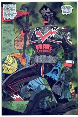 Planche intérieure du troisième tome de l'édition française du comics Marshal Law