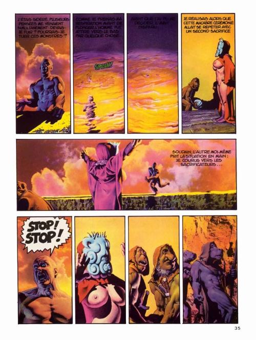 Planche intérieure de la première édition française du comics Le Voyage fantastique à Nulle Part